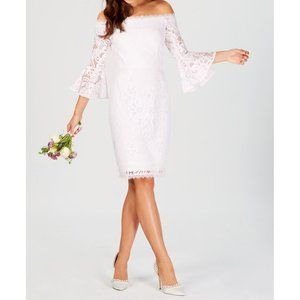 NWT Adrianna Papell Off Shoulder Lace Dress 4